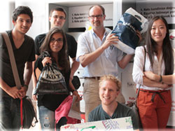 Students donating their used clothes at Yasar University Izmir