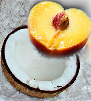 peach and coconut