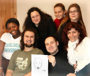 participants of the Borrowed Identities workshop from Germany/Angola, Spain, Lithuania, Finland, Hungary, Switzerland, and Germany